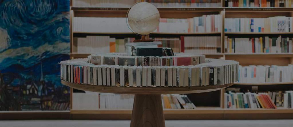 kütüphaneki kitaplar